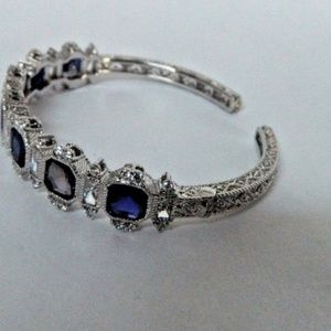 New Ripka Sterling Blue Sapphire bracelet Medium